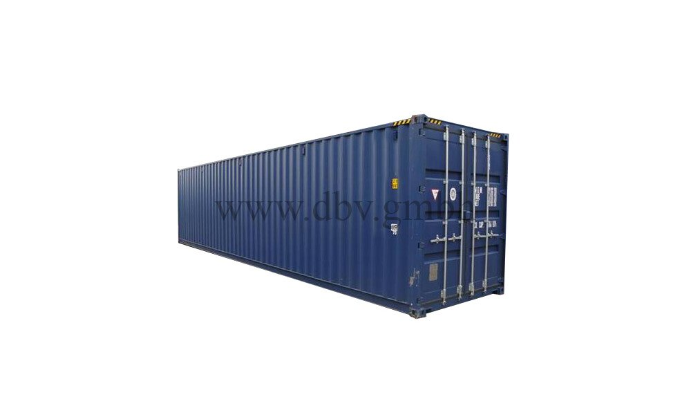 Seecontainer High Cube 40 FT. Ansicht links